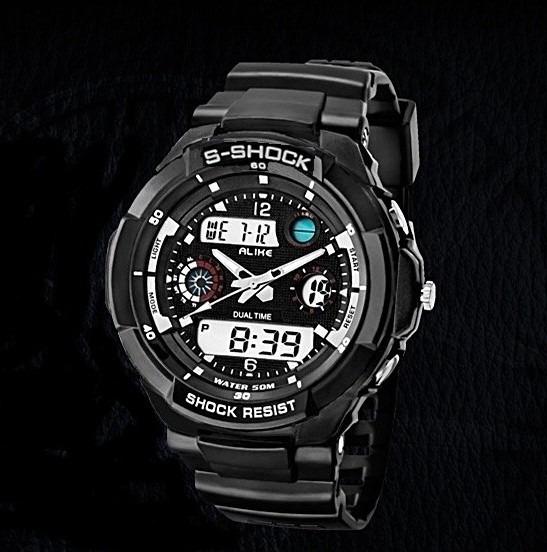 Relógio Masculino Sports P/mergulho 50 Metros - Frete Grátis