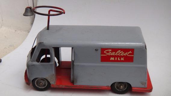 Antiga Van De Lata Entrega De Leite Pedal Car Marca Robert