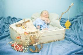 Newborn Kit Barco - Com Rede, Remos,ancoras E Vara