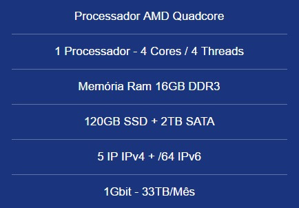 Servidor Dedicado Amd Quad-16gb Ram-120gb Ssd+2tb Hd-5 Ip