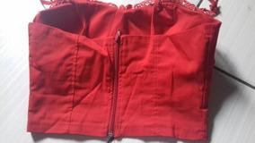 Cropped Vermelho Com Guipir