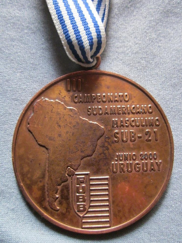 Imagen 1 de 2 de Medalla De Basketball 3er Puesto Iii Campeonato Sudamericano