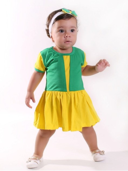 Vestido Body Bebe Brasil Copa Do Mundo