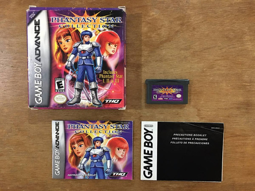 Phantasy Star Collection Completo Game Boy Advance / Gba