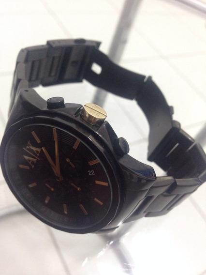 Relógio Armani Exchange Black - Novinho! Comprados Nos Eua