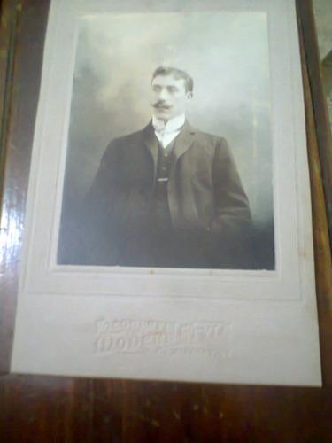 Foto Carton Antigua Dedicada Y Firmada 1906