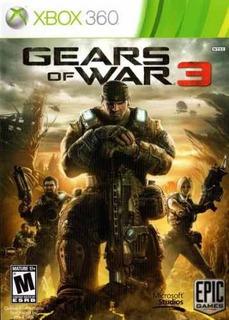 Gears Of War 3 Español Latino - Xbox 360 - Nuevo Y Sellado