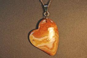 Rsp J659 Belle Nature Colar Revestido A Ouro Ágata Coração