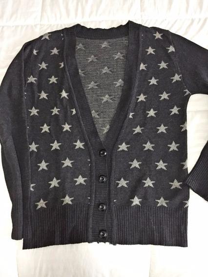 Saco Sweater Cardigan Mujer Estrellas