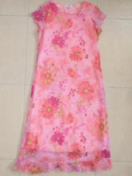 Vestido Floral De Niña Talla 12