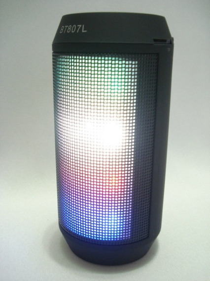 Caixa De Som Portátil Bluetooth Led