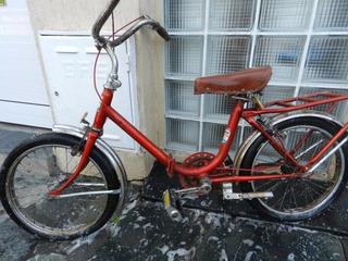 Bicicleta Niño Rodado 14 Tipo Aurorita Plegable
