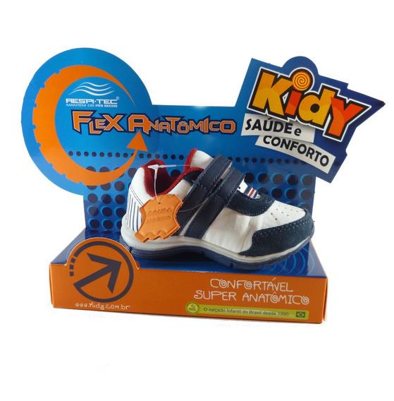 Sapatênis Kidy Flex Anatômico 164-0064-4862 Bco/marinho/verm