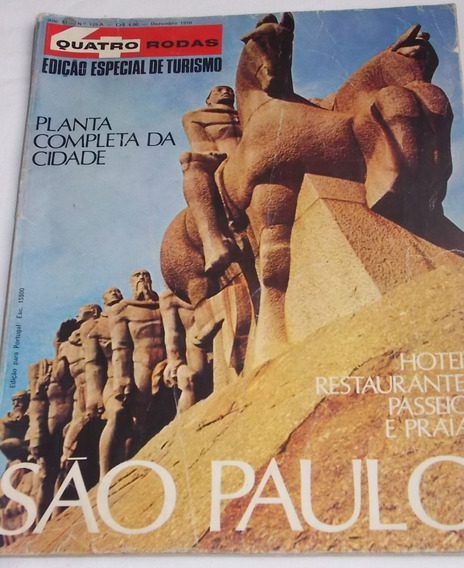 Revista 4 Quatro Rodas Especial Turismo São Paulo Dez. 1970