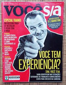 Revista Você Sa Experiência Profissional Kit Com 3 Revistas