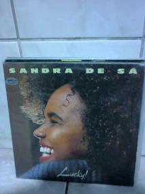Lp Sandra De Sá Lucky! C/ Encarte Zerado P/colecionador