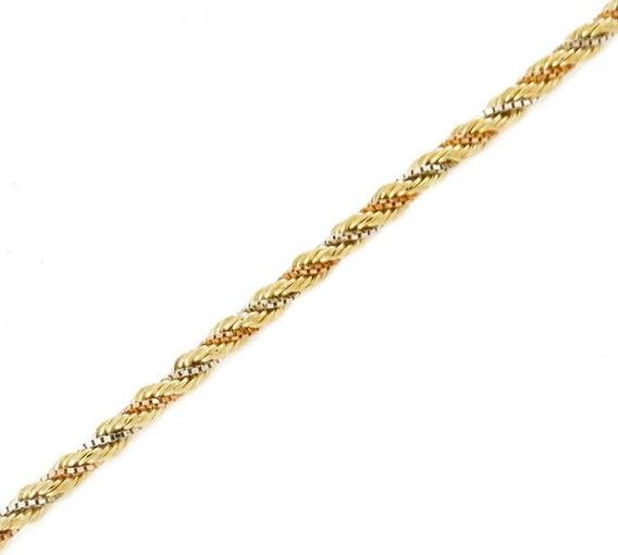 Corrente Ouro 18k Corda Trançada 45 Cm 5,6gr
