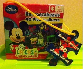 Lindo Rompecabezas De Mickey Mouse Clubhose, Piezas Grandes