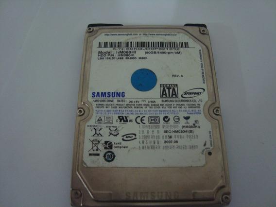 Hd Samsung Sata 80gb - Usado - Defeito