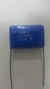 200 Capacitor Poliester 3m3 - 3,3uf X 250v P/ Tweeter Filtro