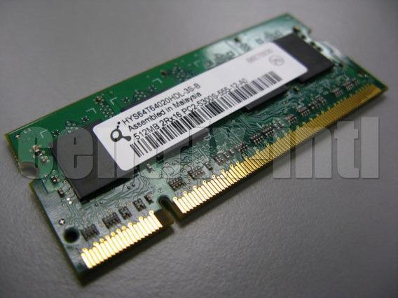 2 Memórias So-dimm Ddr2-667 512mb Hynix Hys64t64020hdl-3s-b