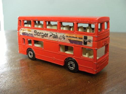 Bus Metalico A Escala Matchbox Made In England 10 X 4 Cms