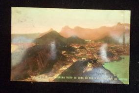 Cartão Postal Antigo Panorama Pão De Açúcar Rio De Janeiro