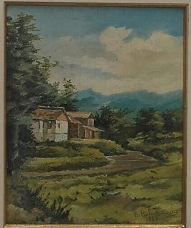 Elio Hahnemann , Paisagem De Ibirama Sc - Ost , 27 X 37 Cm