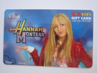 Cartão Presente Sem Crédito Para Colecionar Hannah Montana