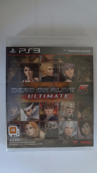 Dead Or Alive 5 Ultimate Ps3 Novo E Lacrado