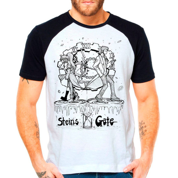 Camiseta Raglan Anime Steins Gate Lost Time