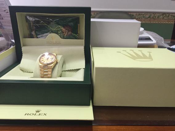 Rolex Day Date Oysterquartz Em Ouro Maciço