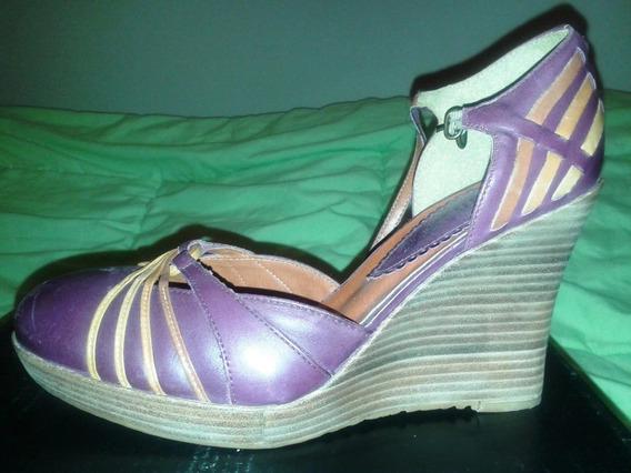 Zapatos Plataformas 39. Cerrados Con Hebilla, Unicas!