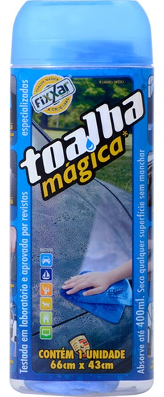 Kit 30 Toalha Magica Original Fixxar Super Absorv 66x43cm