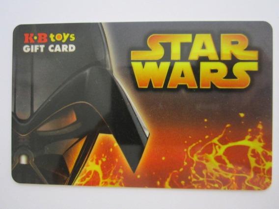 Cartão Presente Sem Crédito Para Colecionar Star Wars