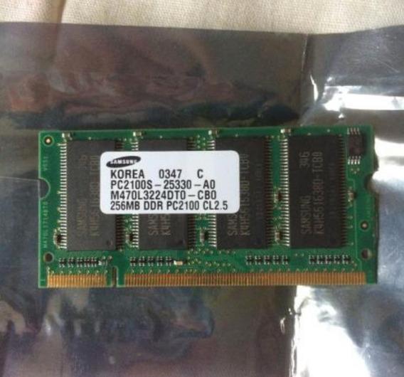 Memoria Notebook Samsung Pc2100 Ddr 256mb