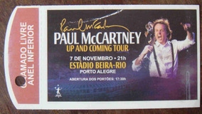 Paul Mccartney Ingresso Show Up And Coming Tour Beira Rio Rs