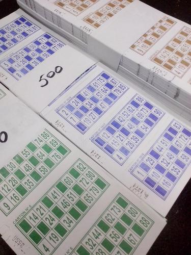 1008 Cartones De Bingo Descartables 3 Colores