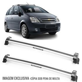 Rack Teto Bagageiro Meriva 03/12 Eqmax Wave Prata - 6126