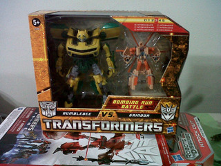 Transformers Tfs Hftd Bumblebee Vs Grindor Sellado Optimus