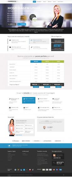 Template Host Ainex Revenda, Hospedagem Whmcs Portugues C01