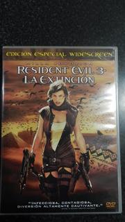 Resident Evil 3 La Extincion Dvd Impecable Estado