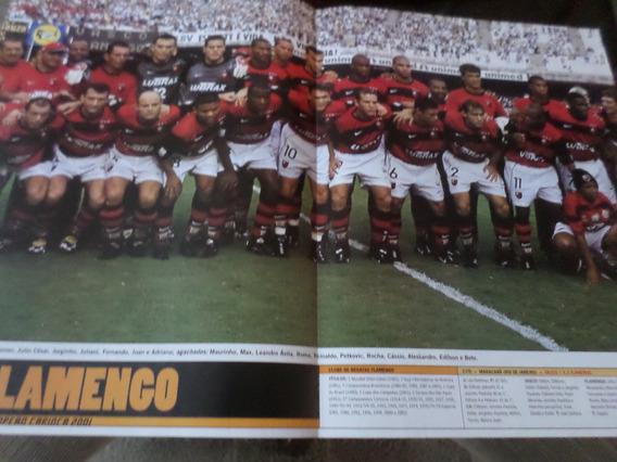 Poster Flamengo Tri Campeão Carioca 2001 21 X 27 Cm Placar