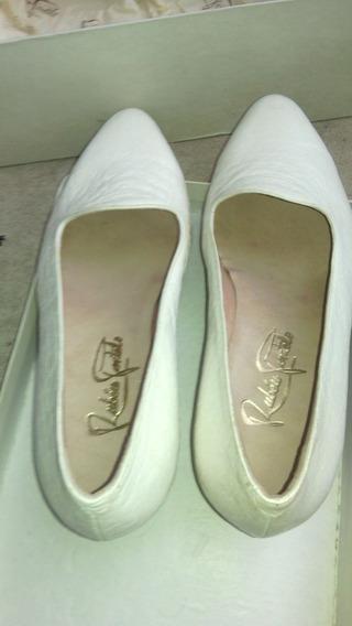 Zapato Mujer Cuero Blanco 36 Ruben Portela