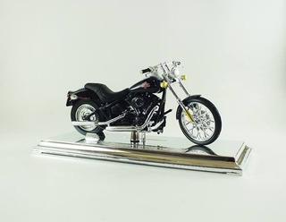 Miniatura Moto Harley Davidson 2004 Flstfi Fat Boy