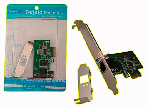 Tarjeta Pci Express De Red Gigabit Pctronix Con Bracket