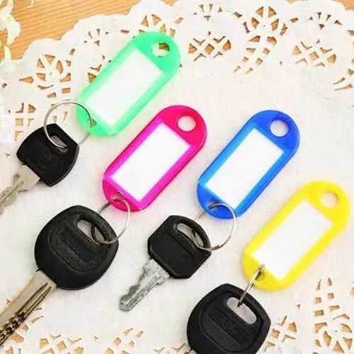 Chaveiros Coloridos P/ Claviculários Porta Chaves 60 (unid)