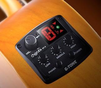 Microfono Cherub Gt2 Guitarra Electro Acustica Ecualizador