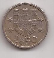 Portugal Moneda De 2 1/2 Escudos Año 1973 !!