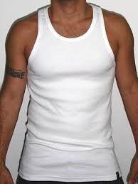 34a791e81aa046 Camiseta Kit C/5 Pçs Regata Branca 100% Algodão Frete Reduzi